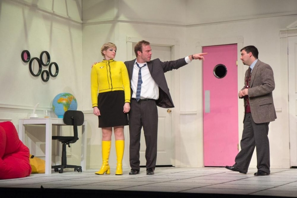 Vicki Sosbe as Gretchen, James Hipp as Bernard, and Matt Austin as Robert