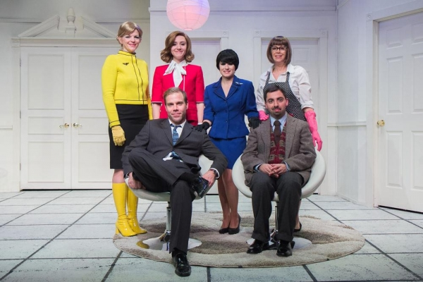 Back row: Vicki Sosbe, Erin Shaughnessy, Reesa Roccapriore, Jody Bayer; Front row: James Hipp and Matt Austin