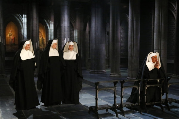 Jessica Molasky as Sister Berthe, Christiane Noll as Sister Margaretta, Elena Shaddow as Sister Sophia, Audra McDonald as Mother Abbess