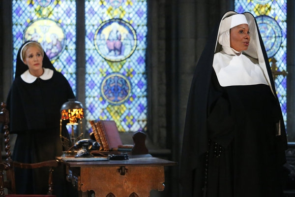 Audra McDonald as Mother Abbess, Carrie Underwood as Maria
