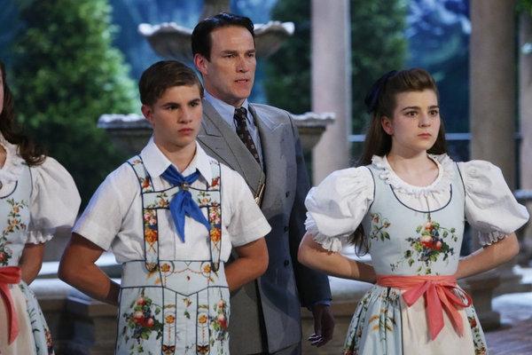 Michael Nigro as Friedrich, Stephen Moyer as Captain Von Trapp, Ella Watts-Gorman as Louisa