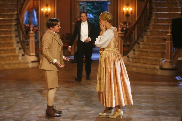 Carrie Underwood as Maria, Stephen Moyer as Captain Von Trapp, Joe West as Kurt