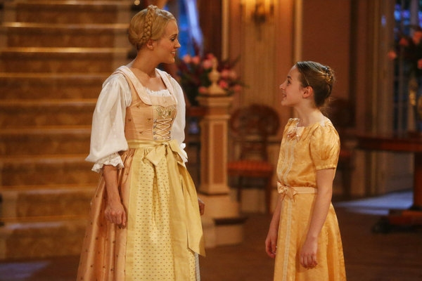 Carrie Underwood as Maria, Sophia Ann Caruso as Brigitta
