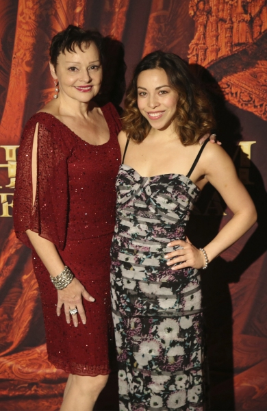 Linda Balgord (Madame Giry) and Hannah Florence (Meg Giry)