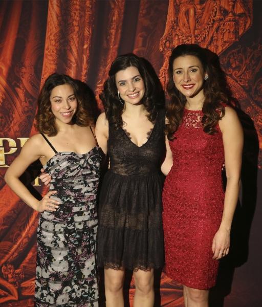Hannah Florence (Meg Giry), Julia Udine (Christine Daaé) and Jacquelynne Fontaine (Carlotta Guidicelli)