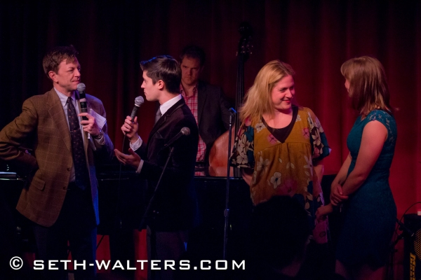 Jim Caruso, Trevor McQueen, Lisa Lambert and Julia Johanos Photo
