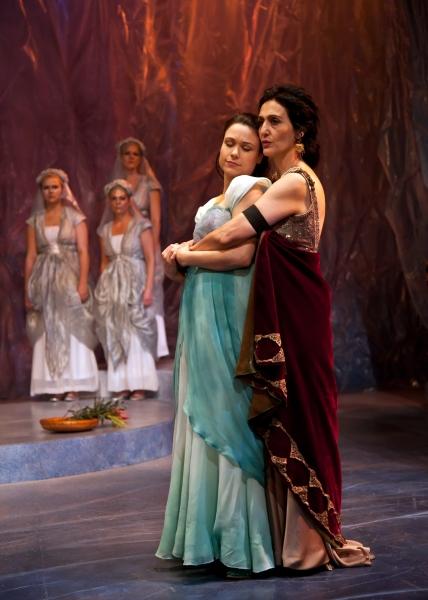 The proud Dionyza of Tarsus (Jacqueline Antaramian) and Marina, her lovely ward (Lind Photo