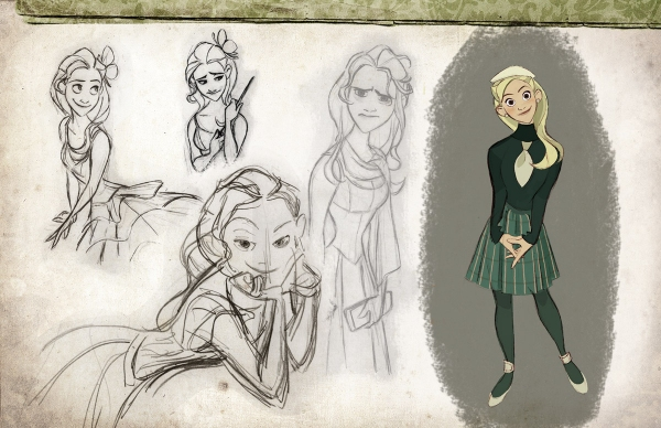Photo Flash: WICKED As An Animated Film? Disney Artist Imagines Cartoon Elphaba, Glinda and More!