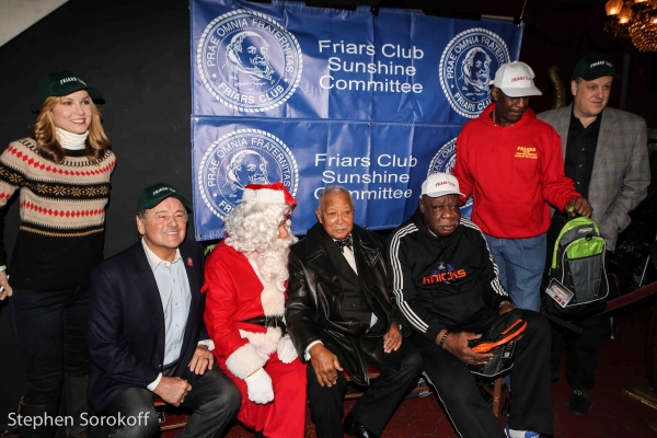 Jodi Applegate, Rod Gilbert, Santa, David Dinkins, Cal Ramsey, Michael Spinks, Michael Kay