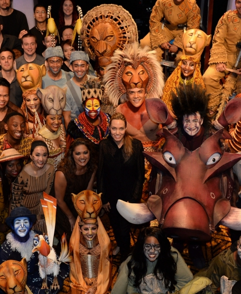 Photo Flash: Angelina Jolie Visits THE LION KING in Australia