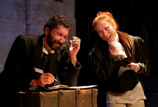 Damen Scranton as Ebenezer Scrooge and Tatyana Kot Photo