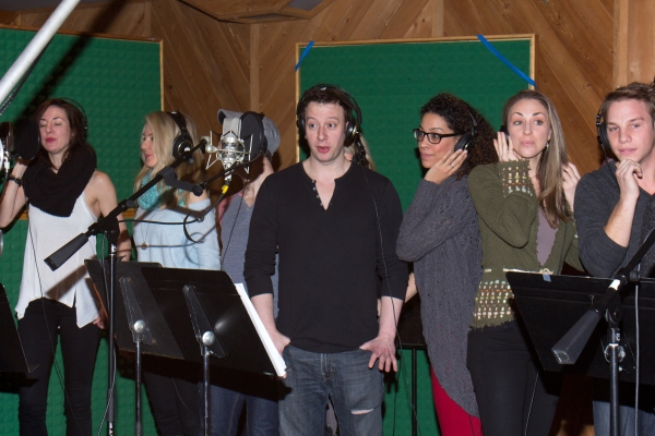Photo coverage in the recording studio with norbert leo for Big fish cast
