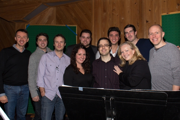 Andrew Lippa, Michael Croiter, Van Dean, Dominick LaRuffa, Jr., Susan Stroman, Rob Hinderliter, John August and the Broadway Records Staff