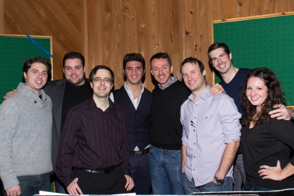 Van Dean, Dominick LaRuffa, Jr., Andrew Lippa, Michael Croiter, Rob Hinderliter, and the Broadway Records Staff