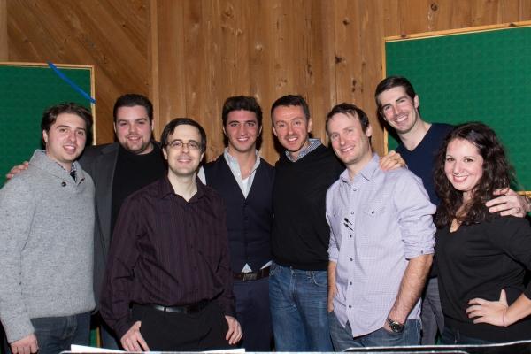 Van Dean, Dominick LaRuffa, Jr., Andrew Lippa, Michael Croiter, Rob Hinderliter, and the Broadway Records Staff