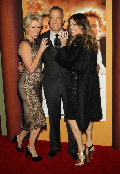 Mandatory Credit: Photo by Jim Smeal/BEImages (1832440dk)Emma Thompson, Tom Hanks, Rita Wilson''Saving Mr. Banks''  film premiere, Los Angeles, America - 09 Dec 2013