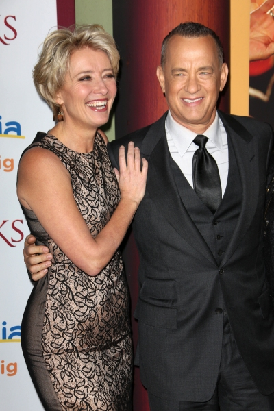 Mandatory Credit: Photo by Matt Baron/BEImages (1832467aa)Emma Thompson and Tom Hanks''Saving Mr. Banks''  film premiere, Los Angeles, America - 09 Dec 2013