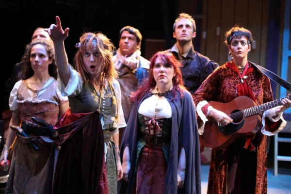 Sarah Scanlon as Sallie, Jenifer Starewhich as Pea, Cory Aiello as Diggs, Kate Nawrocki as Tasha, Dan Behrendt as Leopold and Elizabeth Bagby as The Captain
