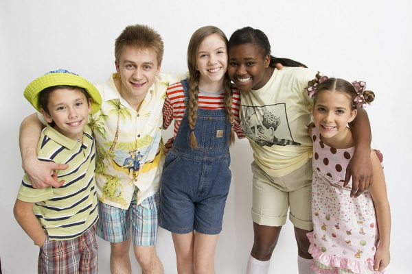 Danny Phillips (Stevie), Riley Costello (Dunlap Dewberry), Julia Nightingale Landfair (Opal), Imari Hardon (Amanda) and Sydni Whitfield (Sweetie Pie)