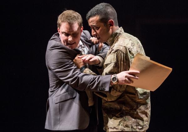 Steve Wojtas (Sarge) and Adam Poss (Julian Flores)