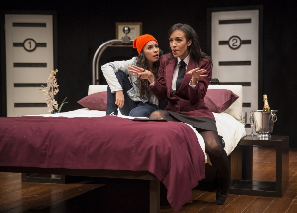 Christina Nieves (Rebecca) and Tawny Newsome (Ella)