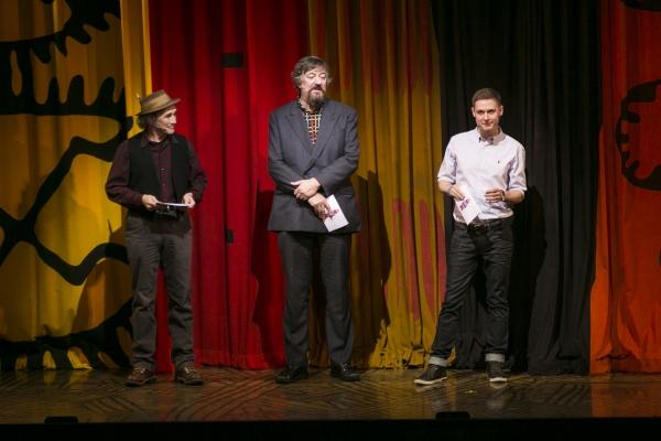 Mark Rylance, Stephen Fry and Samuel Barnett Photo