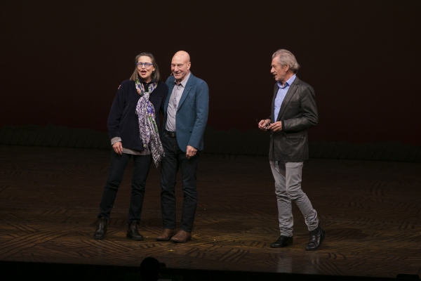 Cherry Jones, Sir Patrick Stewart and Sir Ian McKellen