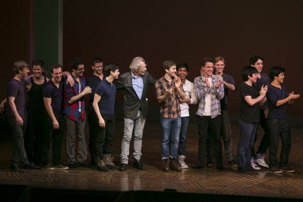 Sir Ian McKellen and the cast of Newsies
