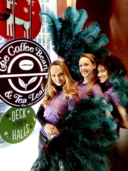 Photo Flash: PIPPIN's Sabrina Harper, Gabrielle McClinton & Bethany Moore Visit Coffee Bean & Tea Leaf