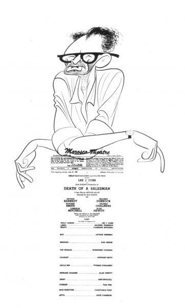 Arthur Miller with program for Death of a Salesman, c. 1971 One of the Pulitzer Prize series commissioned and donated to the Billy Rose Theater Division by Harold Steinberg