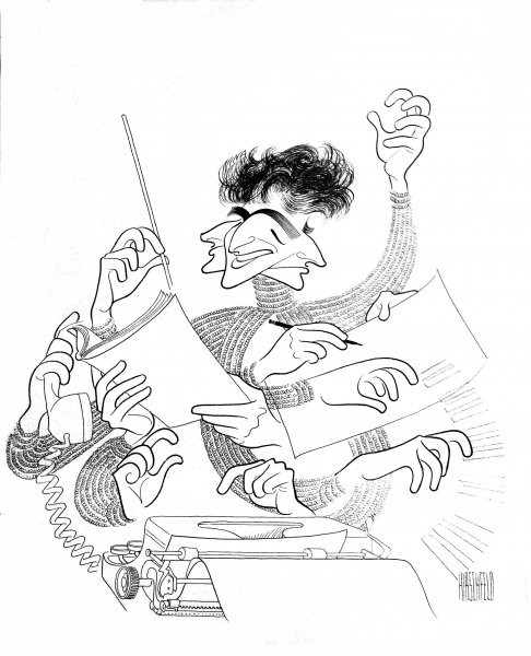 Photo Flash: Marlon Brando, Arthur Miller & More Immortalized by Hirschfeld; First Look at NYPL's THE LINE KING Exhibit!
