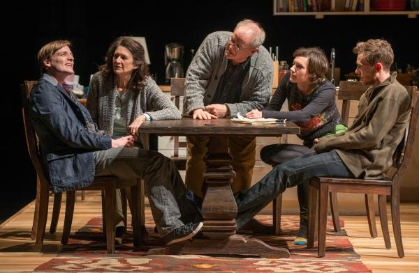 Billy (John McGinty), Beth (ensemble member Molly Regan), Christopher (ensemble member Francis Guinan), Ruth (Helen Sadler) and Daniel (Steve Haggard)