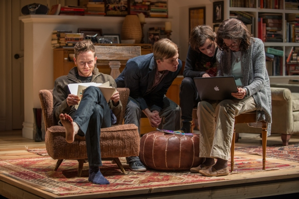 The family gathers in the living room, including Daniel (Steve Haggard), Billy (John McGinty), Ruth (Helen Sadler) and Beth (ensemble member Molly Regan)