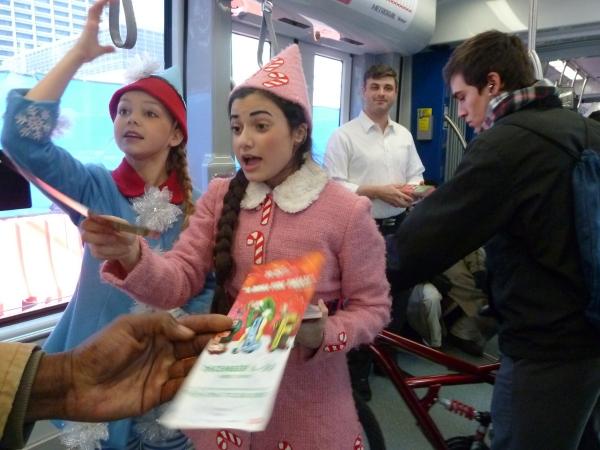 PHOTO FLASH: Buddy the Elf Brings Sparklejollytwinklejingley Joy to Houston METRORail