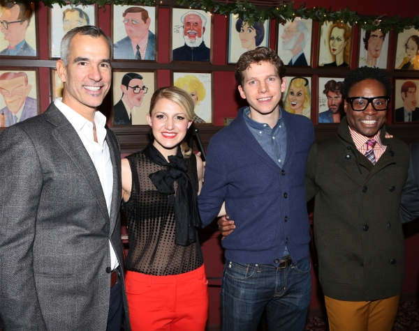Photo Coverage: KINKY BOOTS' Billy Porter, Stark Sands, Annaleigh Ashford & Jerry Mitchell Unveil Sardi's Portraits!