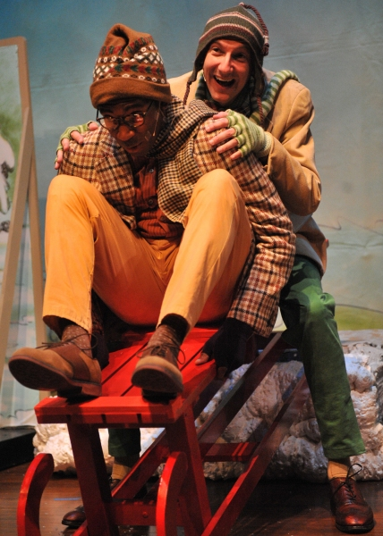 Anthony Rollins-Mullens (Toad) and Derek Travis Collard (Frog)