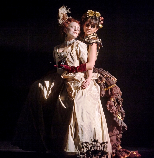 Laura Careless as Marie-Claire and Marisol Cabrera in Nutcracker Rouge. Photographer: Photo