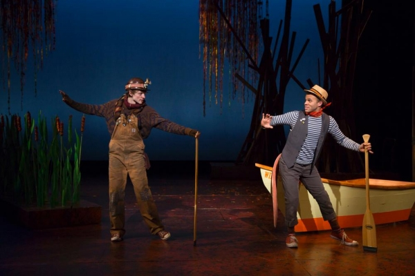 Mike Faist as Mole and Justin Keyes as the Water Rat