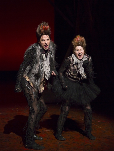 Sean Patrick Doyle and Amanda Butterbaugh as the Weasels  Photo