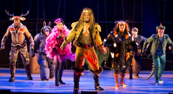 Norman Garrett as the Elk, Ian McEuen as the Hippo, Lisa Williamson as the Flamingo, Soloman Howard as the Lion, Deborah Nansteel as the Cat, Patrick O'Halloran as the Stagehand, and Wei Wu as the Lizard