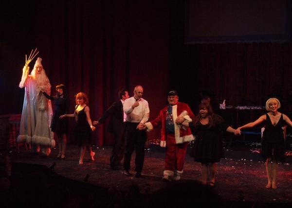 Beth Kennedy, Katie Nunez, Rick Batalla, Matt Walker, Santa Claus, Lisa Valenzuela, and Suzanne Jolie Narbonne