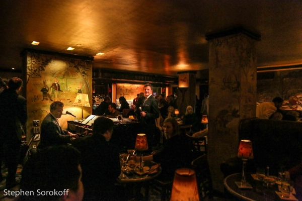 Photo coverage jim caruso billy stritch continue run at for Bemelmans bar mural