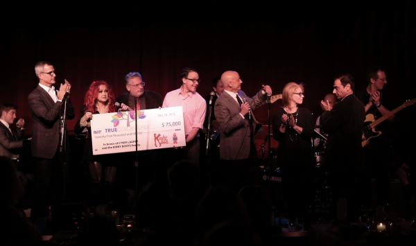 Jerry Mitchell, Cyndi Lauper, Harvey Fierstein, Tom Viola, Daryl Roth and Hal Luftig