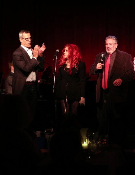Jerry Mitchell, Cyndi Lauper and Harvey Fierstein