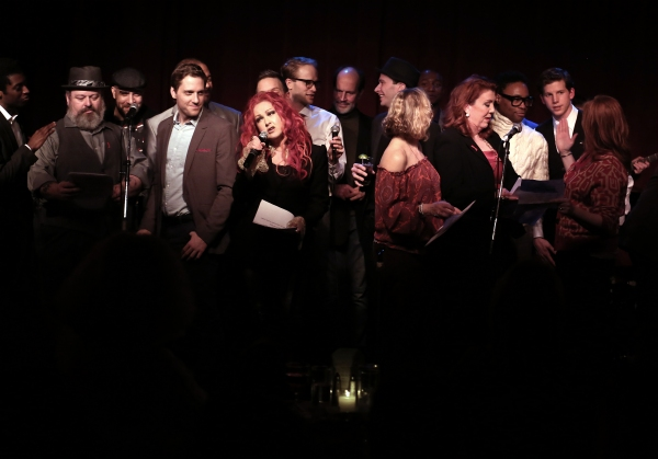 Cyndi Lauper with ''Kinky Boots'' cast members Adinah Alexander, Jennifer Perry, Billy Porter, Tory Ross and Stark Sands