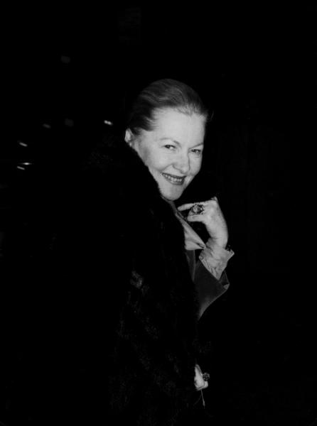 Joan Fontaine  in New York City. September 1979