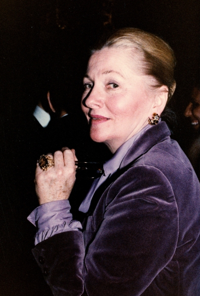Joan Fontaine in New York City. November 1979  Photo
