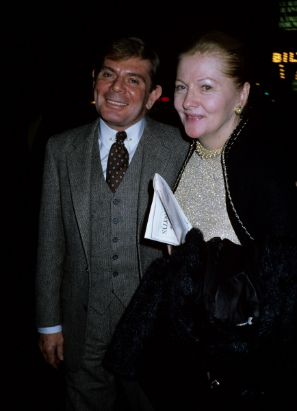 Joan Fontaine and guest in New York City on October 2nd, 1981.   Photo