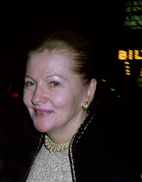 Joan Fontaine in New York City on October 2, 1981.   Photo