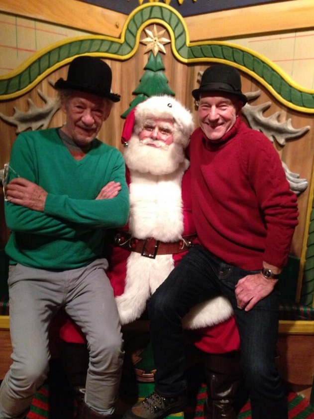 Twitter Watch: Patrick Stewart and Ian McKellen Visit Father Christmas!